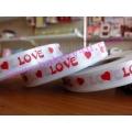 ริบบิ้นลาย Love สีขาว