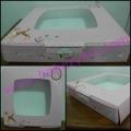 กล่องเค้ก 1 ปอนด์เตี้ย(bj)